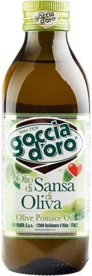 Масло оливковое 500мл рафинированное, Goccia d'oro, Италия