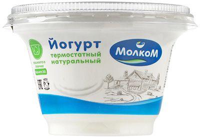 Йогурт термостатный натуральный 4% жир., 140г Молком, 14 суток