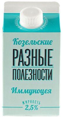 Иммуноцея 2,5% жир., 450г продукт кисломолочный с сиропом шиповника, Козельский МЗ, 10 суток