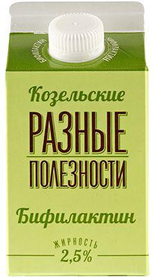 Бифилактин 2,5% жир., 450г продукт кисломолочный, Козельский МЗ, 10 суток