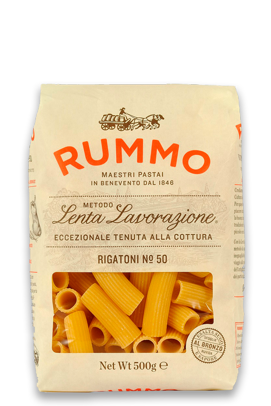 Ригатони №50, 500г макароны, RUMMO