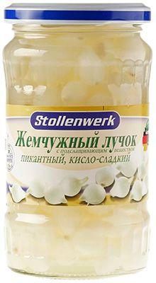 Лучок жемчужный консервированный 370мл сладко-кислый, пикантный, Штолленверк, Германия