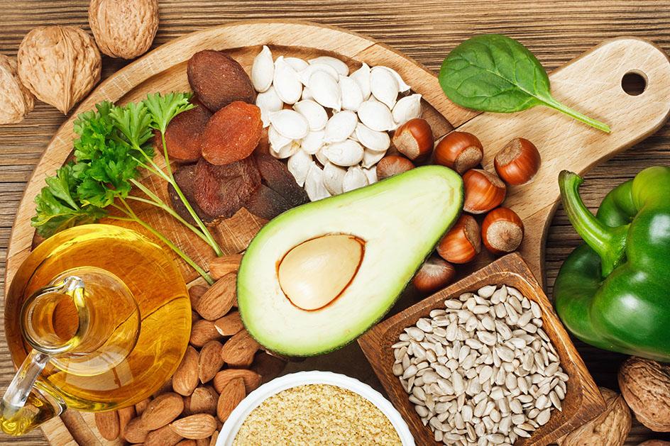 Продукты, богатые витамином E