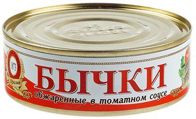 Бычки в томатном соусе 240г Крым