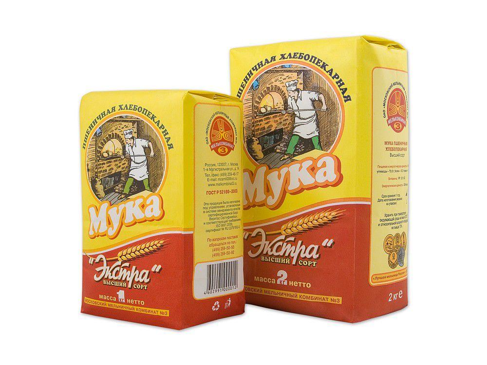 Мука пшеничная Экстра 2кг хлебопекарная