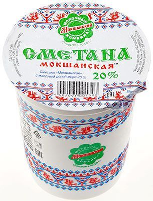 Сметана Мокшанская 20% жир., 400г Новая Изида