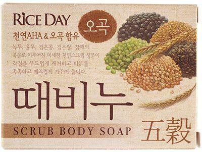 Скраб-мыло туалетное с экстрактом пяти злаков 100г CJ Lion, Rice Day