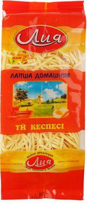 Лапша домашняя пшеничная 500г для супов и гарниров, Лия, Казахстан