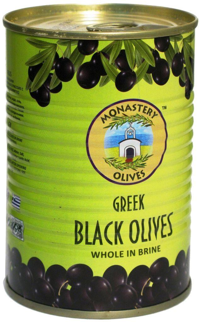 Маслины черные с косточкой 425г Конфитес, Монастырские оливы