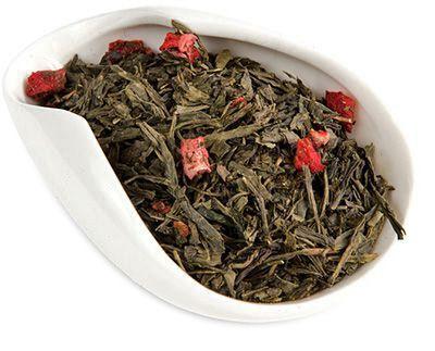 Чай Земляника со сливками 100г зеленый, ароматизированный, Китай