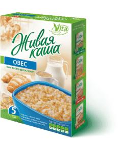 Живая каша овес Organic 300г 100% пророщенное зерно, Vita