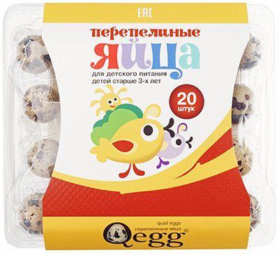 Яйца перепелиные для детей 20шт для питания детей старше 3-х лет, Qegg