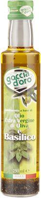 Масло оливковое с базиликом 250мл Extra Virgin, Goccia D`Oro, Италия