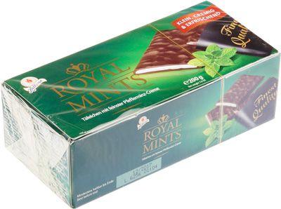 Шоколадные плитки с мятной начинкой 200г Royal Mints, Германия