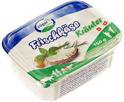 Сыр творожный c травами 66% жир., 150г Zuger, Швейцария