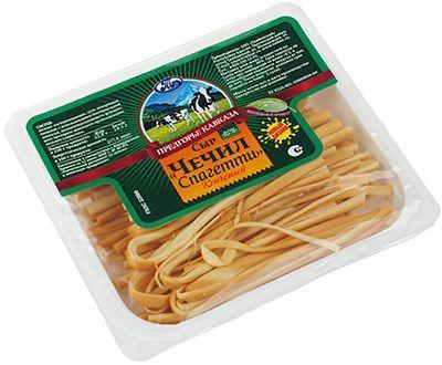 Сыр Чечил Спагетти 45% жир., 100г копченый, Предгорье кавказа