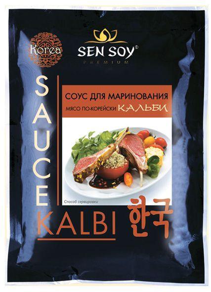 Соус Кальби для мяса по-корейски 80г маринад, Сэн Сой Премиум