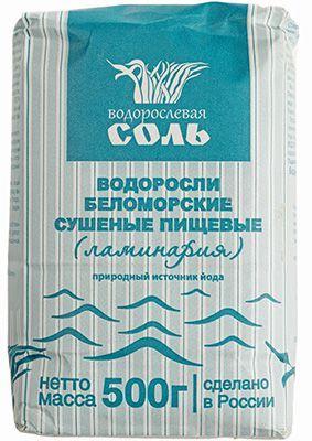 Водорослевая соль с ламинарией 500г Гарнец