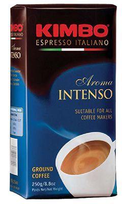 Кофе Кимбо Арома Интенсо 250г 80% арабика, 20% робуста, молотый, Италия