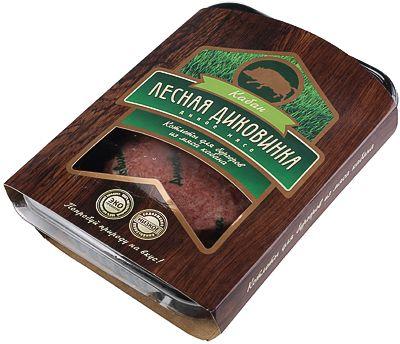 Котлеты для бургеров из мяса кабана 300г 100% мясо дичи, 2шт, замороженные, Лесная Диковинка