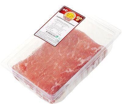 Карбонад свиной ~ 750г охлажденный, средний вес куска 500-1кг, Ясные Зори