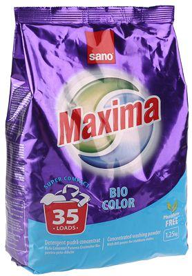 Стиральный порошок Maxima Bio color 1,25кг Sano