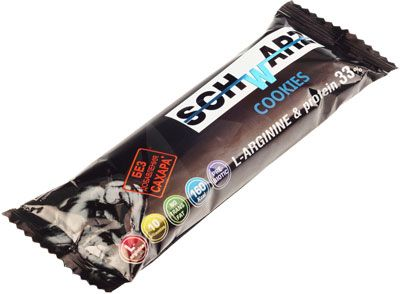 Протеиновый батончик со вкусом печенья 50г без сахара, протеин 33%, L-аргинин, Schwarz