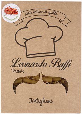 Макаронные изделия Тортильони 350г с добавлением сушеных морепродуктов, Леонардо Баффи