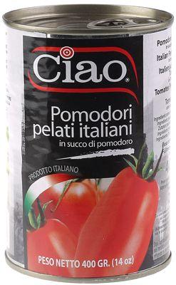 Помидоры целые в собственном соку 400г томаты очищенные, CIAO, Италия