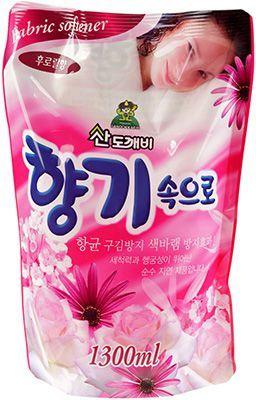Кондиционер для белья цветочный 1,3л Soft Aroma, Юж. Корея