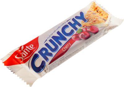 Батончик мюсли с вишней 40г Crunchy, в ванильной глазури