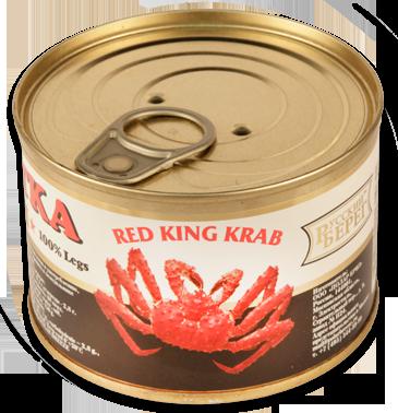 Мясо краба Камчатка консервированное 240г Премиум, высший сорт