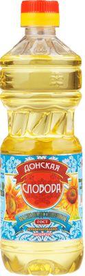 Масло Донская слобода нерафинированное 0,5л подсолнечное, высший сорт