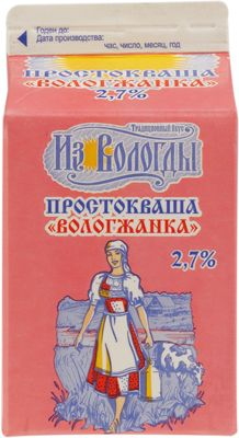 Простокваша Вологжанка 2,7% жир., 470г Вологодский МЗ, 10 суток
