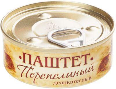Паштет перепелиный 100г деликатесный, Россия