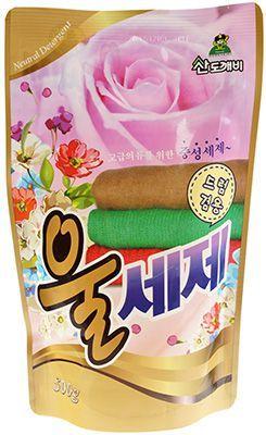 Средство для стирки деликатных тканей 500г для шелка и шерсти, Sandokkaebi Wool, Южная Корея