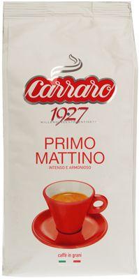 Кофе CARRARO Примо Маттино 1кг 70% арабика, 30% робуста, в зернах, Италия
