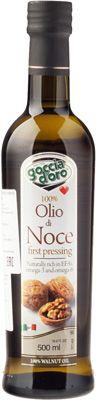 Масло из грецкого ореха 500мл нерафинированное, Goccia D`Oro, Италия