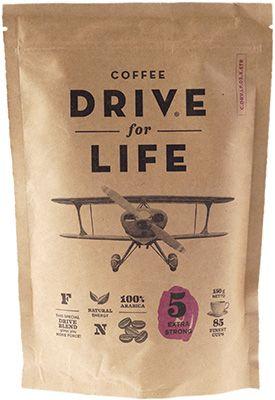 Кофе Живой Drive for life Exstra Strong 150г 100% арабика сублимированный, экстра крепкий
