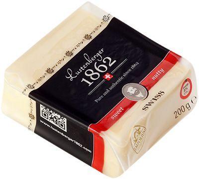 Сыр Люстенбергер 1862 орехово-сладкий 50% жир., 200г LeSuperbe, Швейцария
