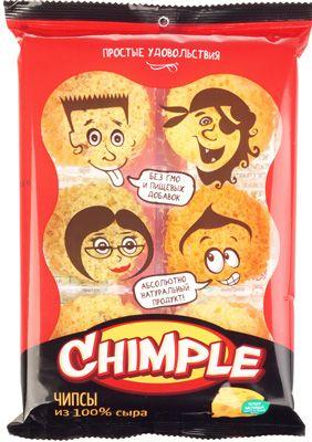 Чипсы из сыра Chimple 55г 100% натуральный продукт, без ГМО и красителей