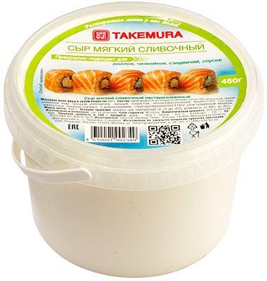 Сыр мягкий сливочный 450г пастеризованный, для суши и десертов