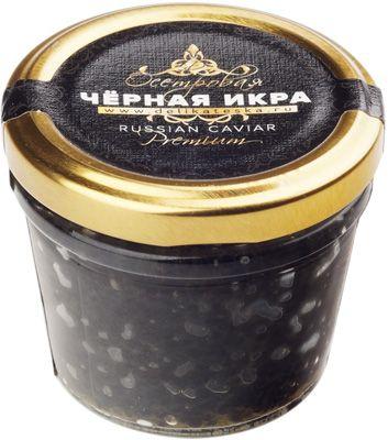 Икра чёрная осетровая Деликатеска.ру 100г забойная, зернистая, непастеризованная