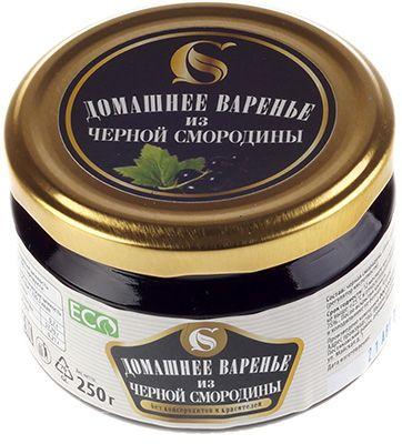 Варенье домашнее из черной смородины 250г без консервантов и красителей, ручной работы, ECO