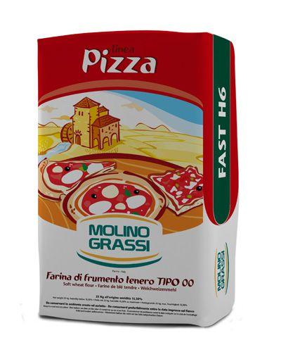 Пшеничная мука для пиццы 00 1кг из мягких сортов пшеницы для пиццы и фокаччи, Молино Грасси