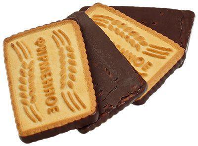 Печенье Фирменное с шоколадной глазурью 560г сахарное