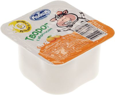 Творог с абрикосом 4,2% жир., 100г для детей с 6 месяцев, Молком, 10 суток