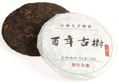Чай Шу Пуэр Бай Ниень Гушу 150г чай Пуэр, блин, Китай. Лянхэ 2013г