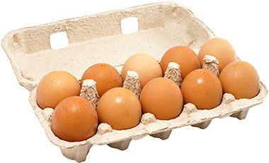 Яйца куриные СВ коричневые 10шт крупные, Сеймовская птицефабрика