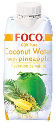 Кокосовая вода со вкусом ананаса 330мл FOCO, Вьетнам